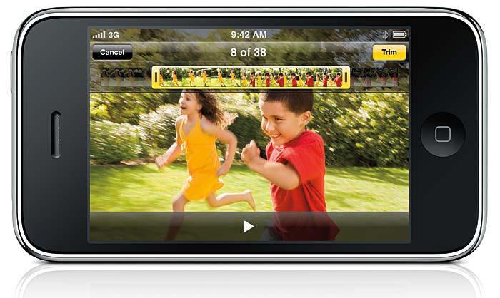 Iphone 3GS från sommaren 2009 har en 3,2 megapixel-kamera från Omnivision. Foto: Apple Inc.