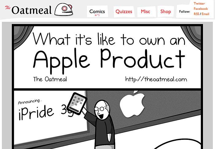 Att äga en Apple-produkt. Bild: TheOatmeal.com