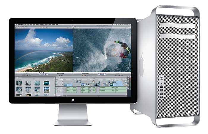 Senaste Mac Pro, från mars 2009, med Cinema Display. Foto: Apple Inc.