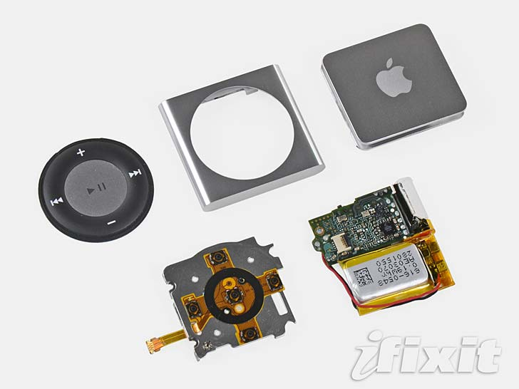 Ifixit plockar isär Ipod shuffle anno 2010. Foto: Ifixit.com