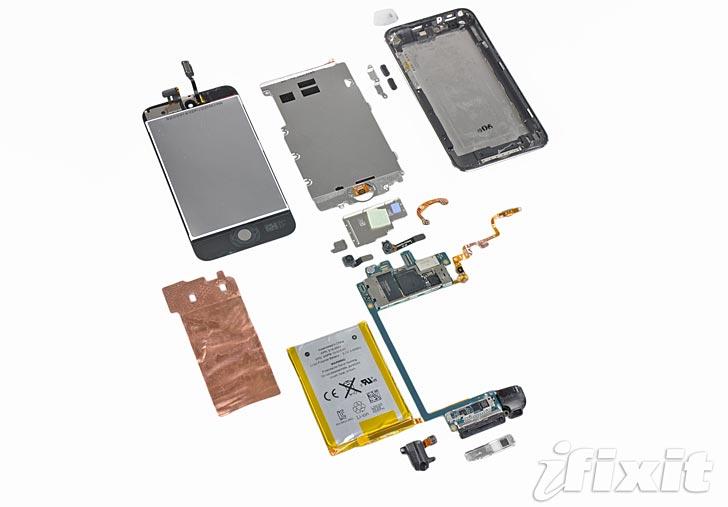 Ipod Touch plockas isär. Foto: Ifixit.com