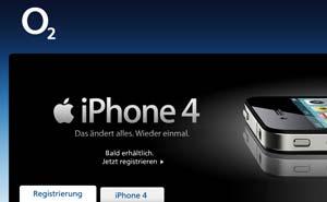 Slut på tyskt Iphone-monopol. Skärmdump från o2.de