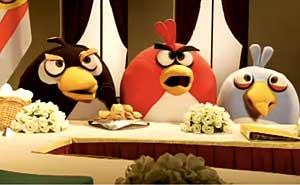 Angry Birds i israeliska fredssamtal. Bild från video
